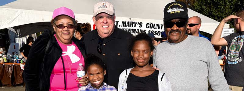 Governor at St Mary's Oyster Festival