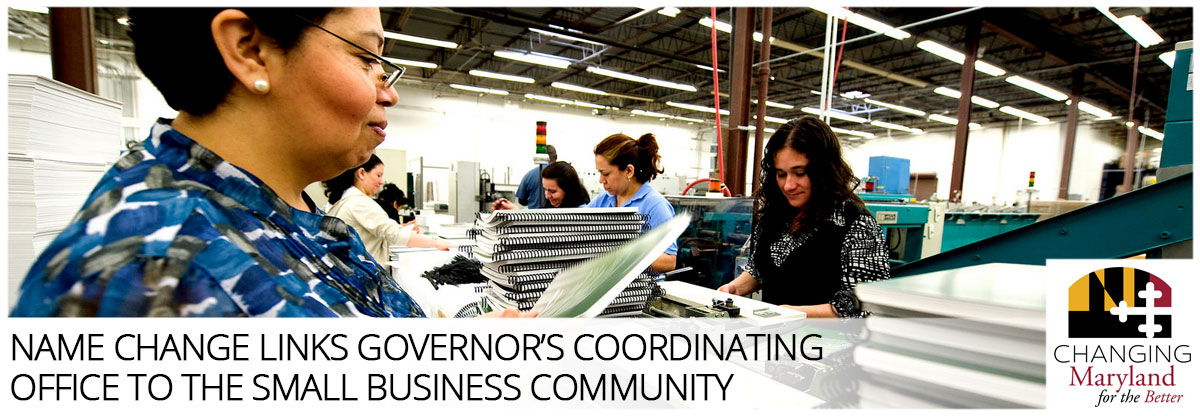 Name Change Links Governor's Coordinating Office to the Small Business Community