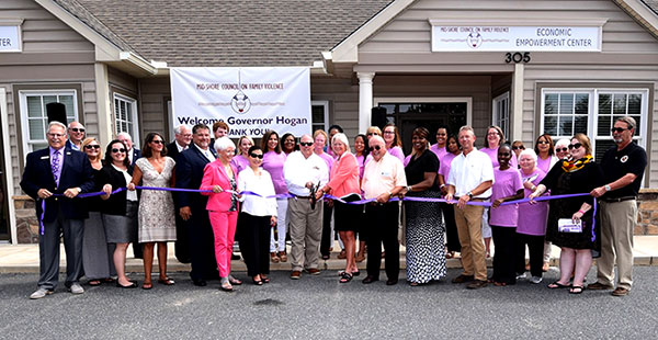 ribbon cutting ceremony for the Economic Empowerment Center