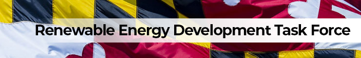 Maryland Flag with Renewable Energy Development Task Force