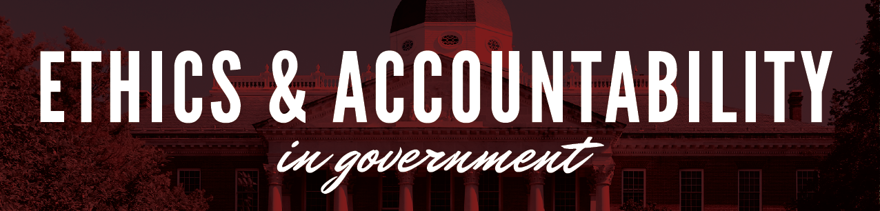Ethics and Accountability in Government
