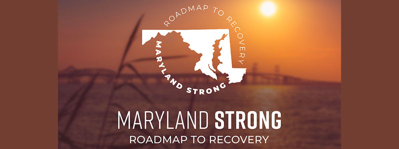 The Maryland Strong: Roadmap to Recovery, image of the bay bridge at sunset